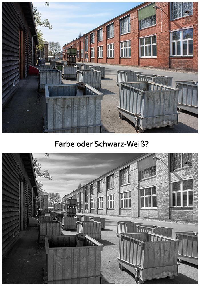Goerzwerk im Hof - Architektur in Farbe oder Schwarz-weiß